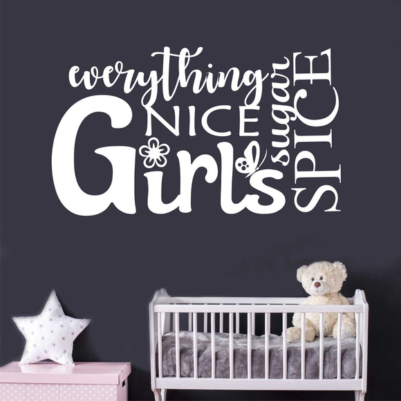 Wall Decal Girls Sugar and Spice