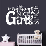 Nursery Girl Word Collage | Vinyl Wall Lettering | Wall Quotes