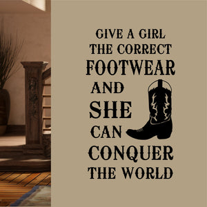 Wall Decal Correct Footwear Cowboy Boot