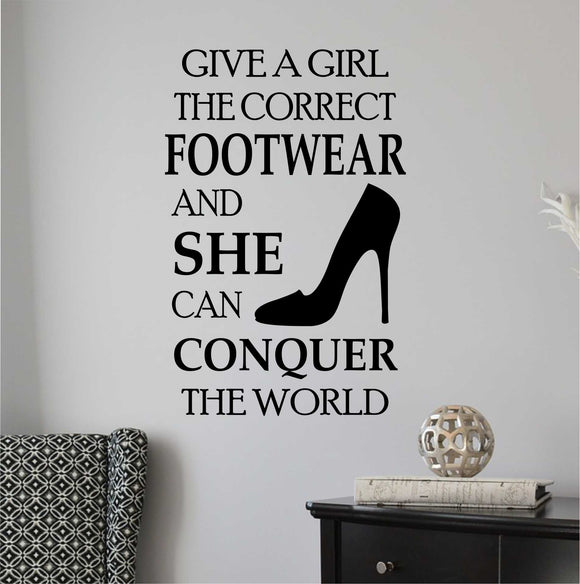 Wall Decal Correct Footwear High Heel