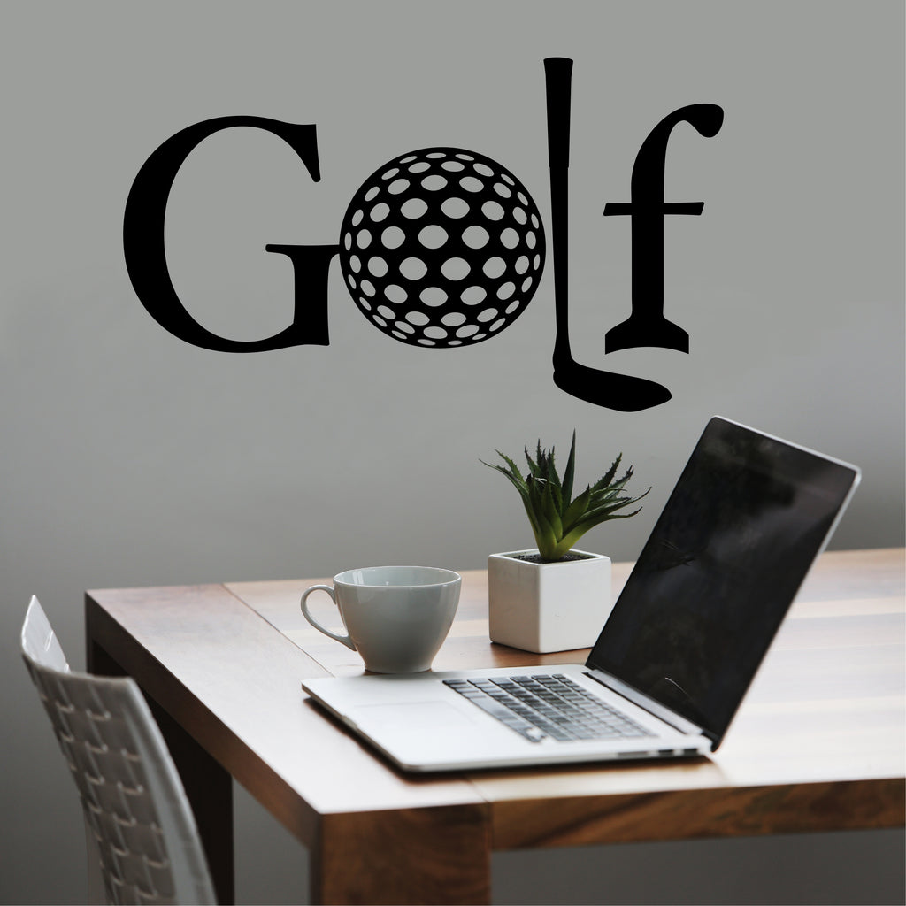 Golf Theme Decal | Golf Word | Vinyl Wall Lettering | Sports Decal