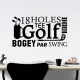 Wall Decal Golf Themed Word Collage