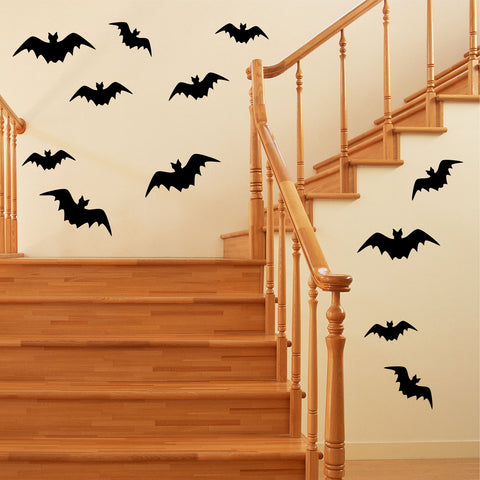 Assorted Sizes Bats | Halloween Vinyl Decals | Vinyl Wall Lettering