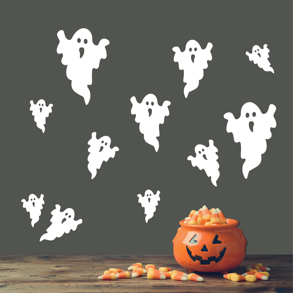 Assorted Sizes Ghosts | Halloween Vinyl Decals | Vinyl Wall Lettering