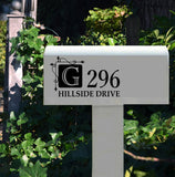 Custom Mail Box Door Decal | Hanging Square | Vinyl Lettering
