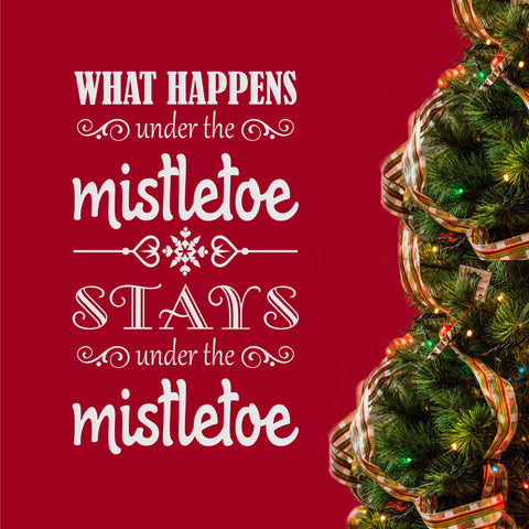 Under the Mistletoe | Christmas Wall Lettering | Holiday Vinyl Decal