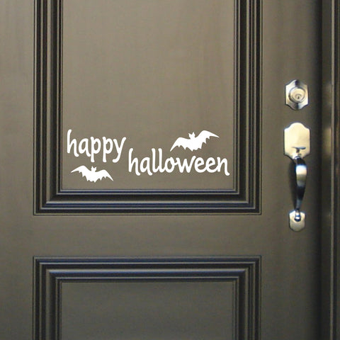 Happy Halloween Door Sign | Vinyl Decals | Vinyl Lettering