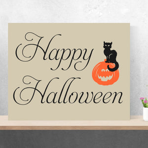 happy halloween canvas painting