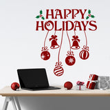 Happy Holidays Holly wall decal
