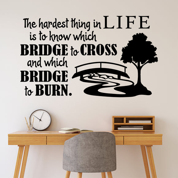 Wall Decal Which Bridge to Cross