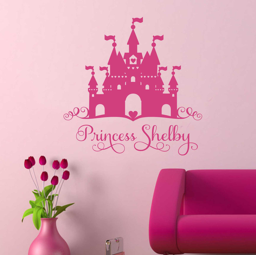 Heart Castle Name Decal