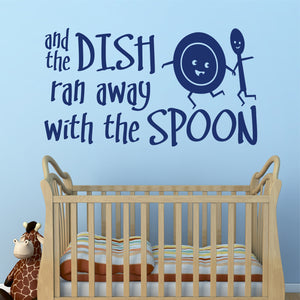 Wall Decal Dish Ran Away