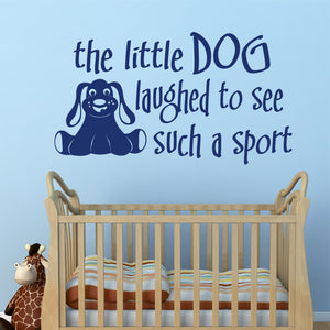 Wall Decal Little Dog Laughed