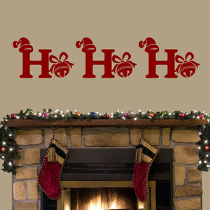 Ho Ho Ho Jingle Bell wall decal