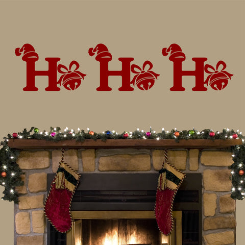 Ho Ho Ho Jingle Bell | Christmas Wall Lettering | Holiday Decal