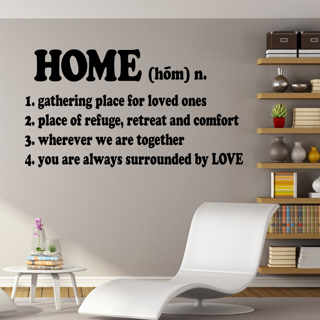 Home Definition Decal | Vinyl Wall Lettering | Wall Quotes