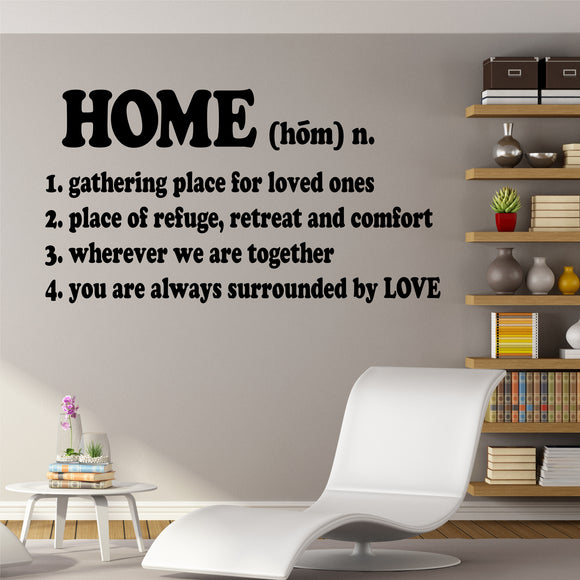 Family Wall Decal Definition of Home Farmhouse Vinyl Lettering