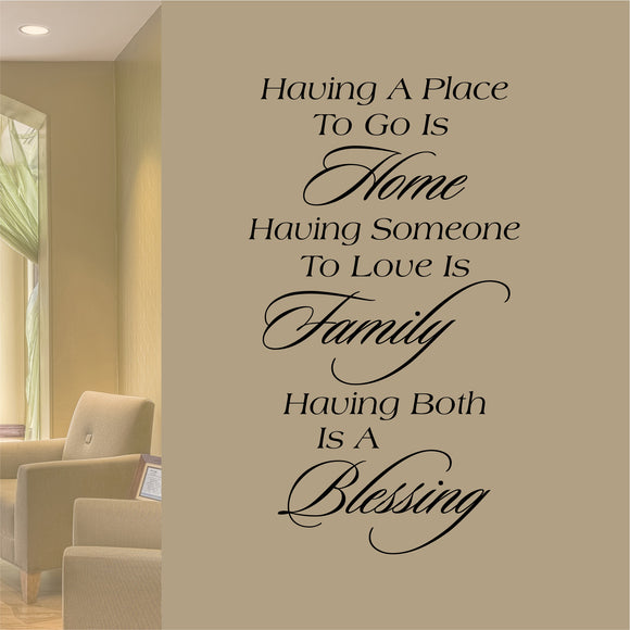 Christian Wall Decal Home Family Blessing Farmhouse Vinyl Lettering