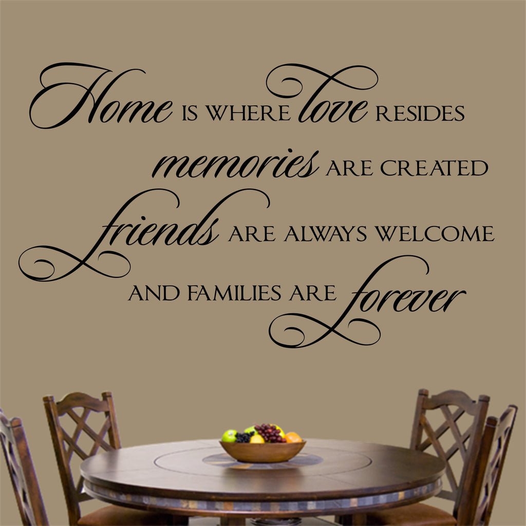 Home where Love resides | Vinyl Lettering | Wall Decals