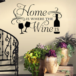 Wall Decal Home is Where the Wine is