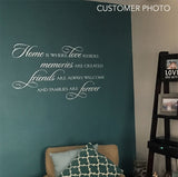 Family Wall Decal Home is Where Love Resides