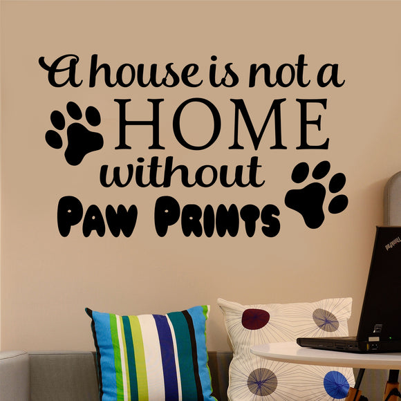 home paw prints decal