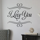 i love you wall decal