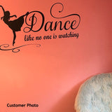 Dance Wall Decal No One Watching Ballet Dancer