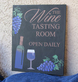 Tasting Room Tuscan Style Painting | Hand Painted Canvas | Wall Art