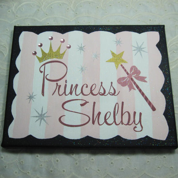 Custom Painted Princess Name canvas