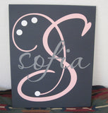 Your Custom Monogram | Hand Painted Canvas | Wall Art