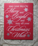 Your Custom Hand Painted Holiday Canvas Wall Art Quote