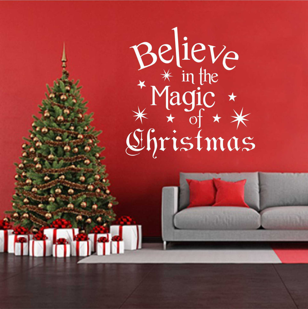 Believe in magic of christmas holiday decal vinyl wall
