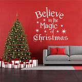 magic of christmas decal