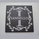 Hand Painted Wedding Monogram Canvas Sign Custom Name Initial