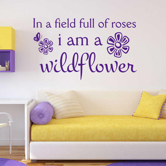 Wall Decal In a field of Roses