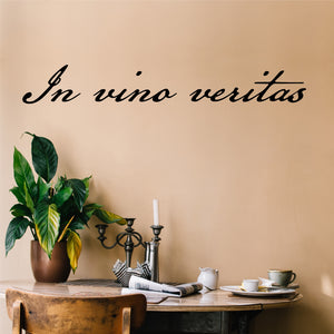 Farmhouse Kitchen Wall Decal In Vino Veritas Latin Vinyl Lettering