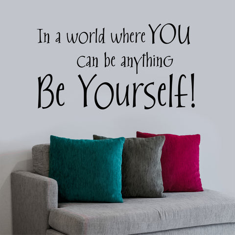 Be Yourself Decal | Vinyl Lettering | Wall Quotes | Vinyl Decals