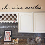 Farmhouse Kitchen Wall Decal In Vino Veritas Latin