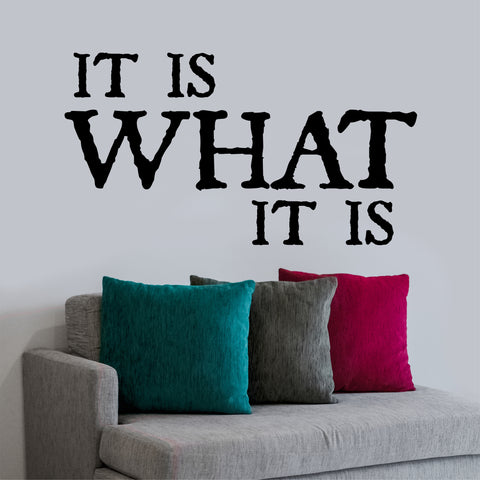 It Is What It Is Quote | Vinyl Wall Lettering | Vinyl Wall Decals