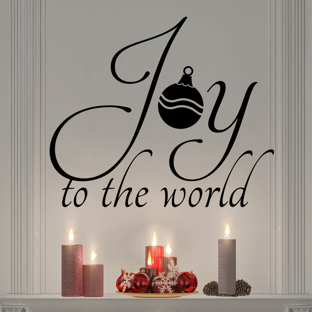Joy to the World | Christmas Decal | Holiday Vinyl Decoration