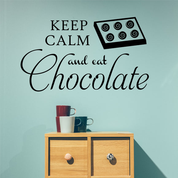 Wall Decal Keep Calm and Eat Chocolate