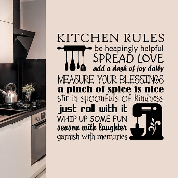 Wall Decal Baking Rules Collage