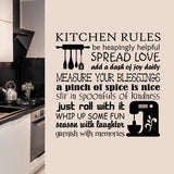 Kitchen Rules Word Collage | Kitchen Decal | Vinyl Wall Lettering