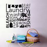 laundry word collage decal