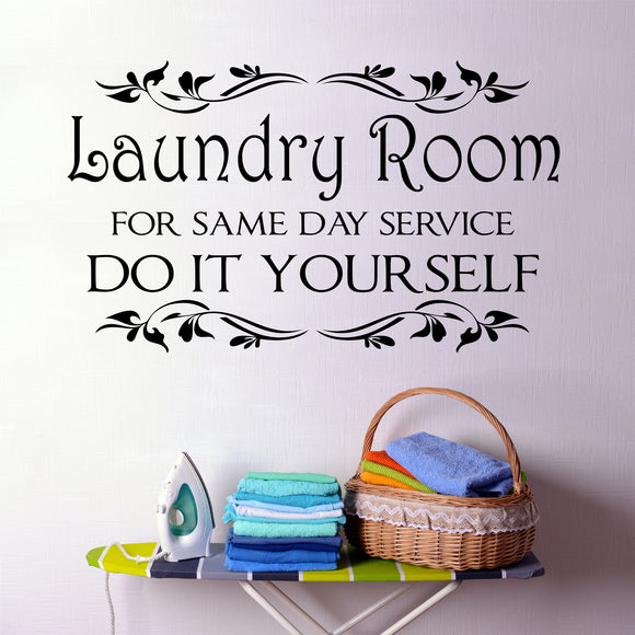 Laundry Room Wall Decal Same Day Service Do It Yourself Vinyl Lettering