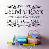 Same Day Service laundry decal