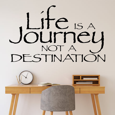 Life is a Journey Decal | Vinyl Wall Lettering | Wall Quotes