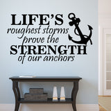 Strength of Anchors Quote | Vinyl Wall Lettering | Nautical Decal