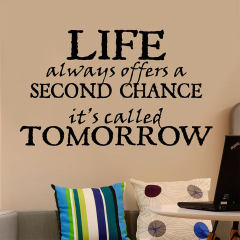 Life offers Second Chance Quote | Vinyl Wall Lettering | Vinyl Decals